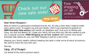 Free shipping in time for back to school