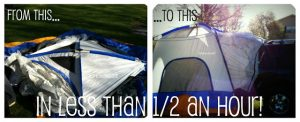 Turn your car, truck or van into a tent instantly