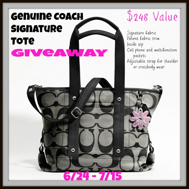 Coach Signature Tote Bag Giveaway!