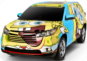 Toyota and Nickelodeon create SpongeBob inspired Highlander