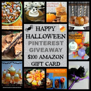 $100 Amazon gift card giveaway! All treats and no tricks for Halloween