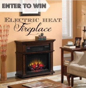 Warm up for the holidays! Win an electric fireplace in the #RockinHop