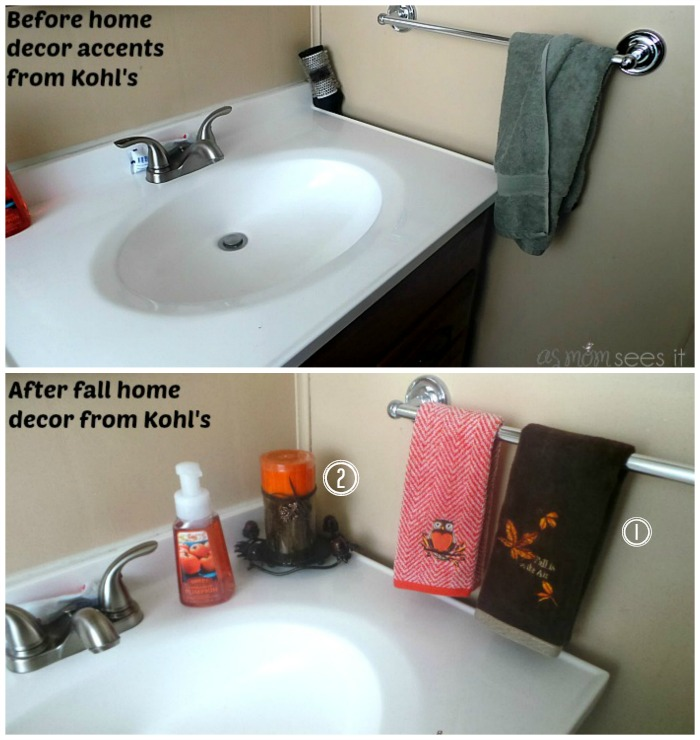 fall accents home bathroom