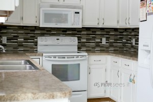 Project: Kitchen Remodel, our new backsplash is complete!