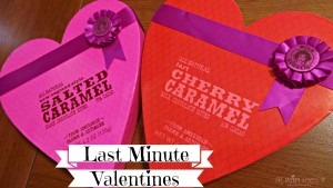 Last Minute Valentine: Heart shaped box and chocolate equals true love