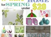 Spring home decor under 20