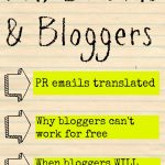 PR Pitches and ROI For Brands And Bloggers