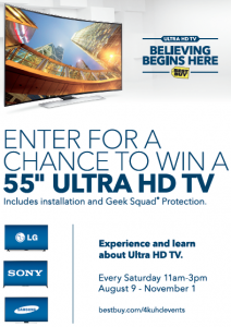 Ultra HD TVs and in store events now at BestBuy #UHDatBestBuy