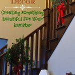 Christmas Decor: A Beautiful Evergreen Spray For Your Banister