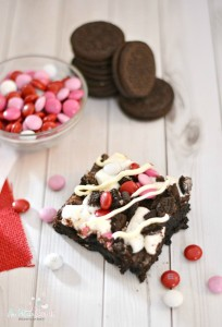 Valentine Oreo Brownie Bars Recipe