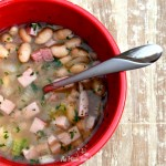 Easter Leftovers: Simple & Quick Ham And Bean Soup #PinkPork