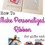 How To Make Customized Ribbon For Crafts And Gifts