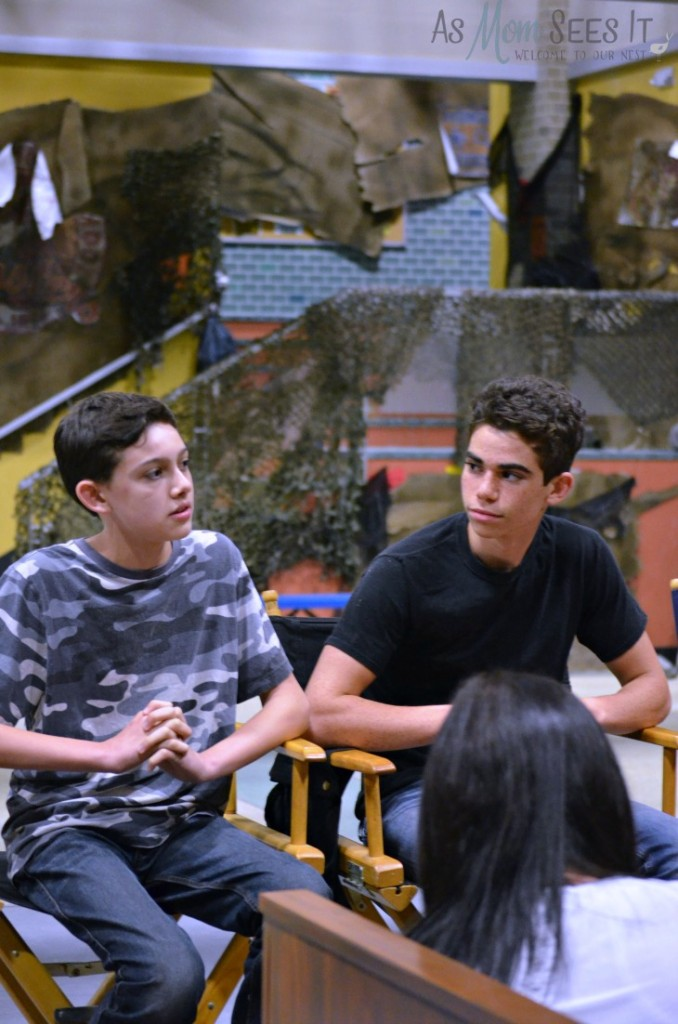 Gamer's Guide set visit with Cameron Boyce and Felix Avitia