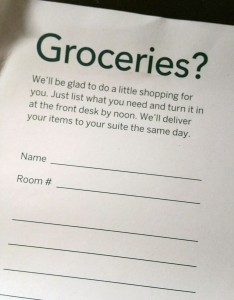 Homewood Suites Grocery Shopping Services Available
