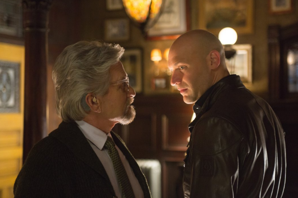 Corey Stoll and Michael Douglas in Ant-Man