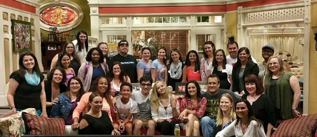 Liv and Maddie set visit group shot