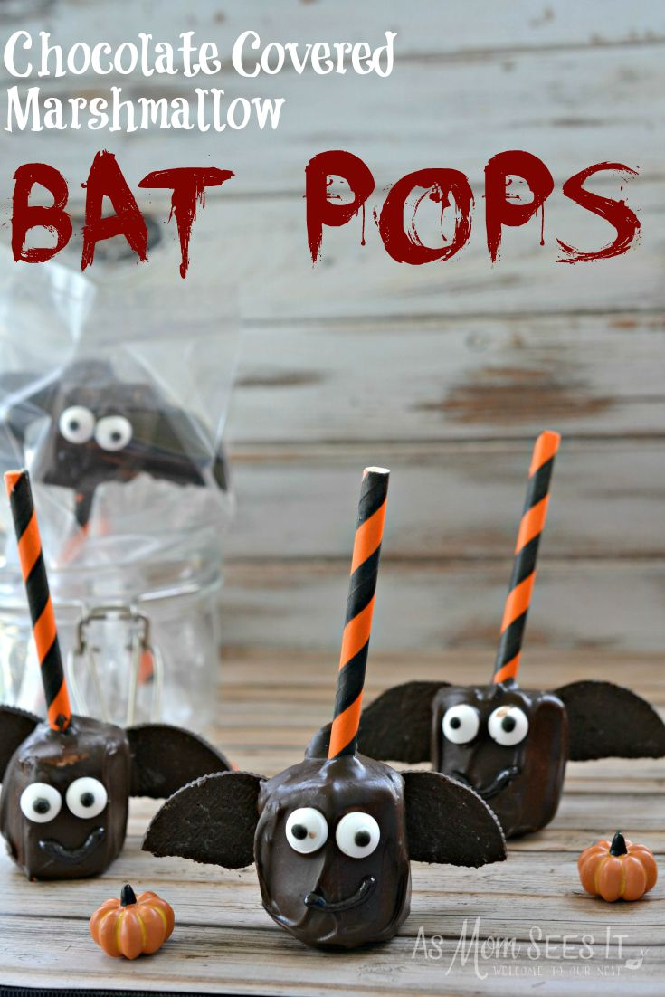 bat marshmallow pops
