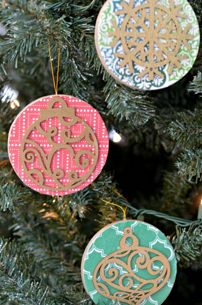 DIY Christmas Tree Ornaments that are rustic and colorful