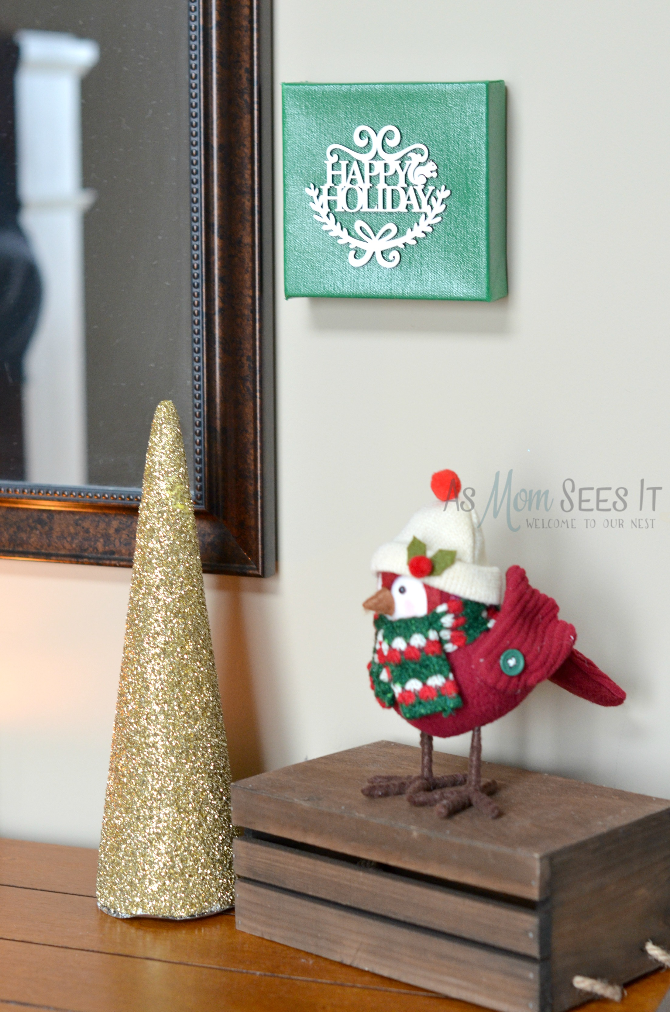 10 Minute Christmas Craft: Christmas Canvas Artwork