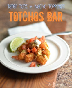 Create A Fun Weeknight Queso Fundido Totchos Bar For Dinner! #CookingUpHolidays