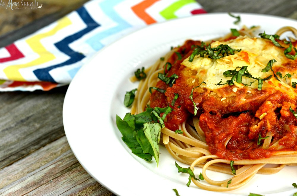 Easy Weeknight Chicken Parmesan recipe with 6 ingredients or less
