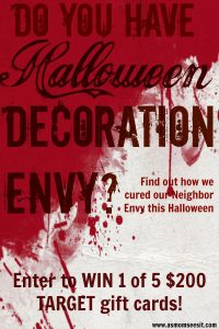 Halloween Decorations: Cure Neighbor Envy With #TargetStyle ($200 Gift Card #Giveaway)