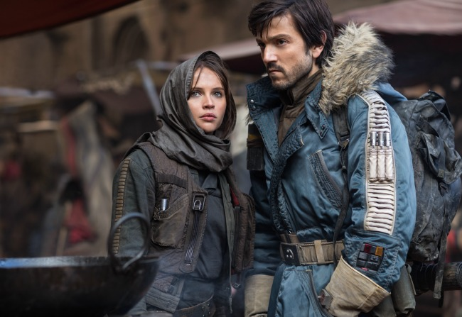 Diego Luna and Felicity Jones star in Rogue One: A Star Wars Story