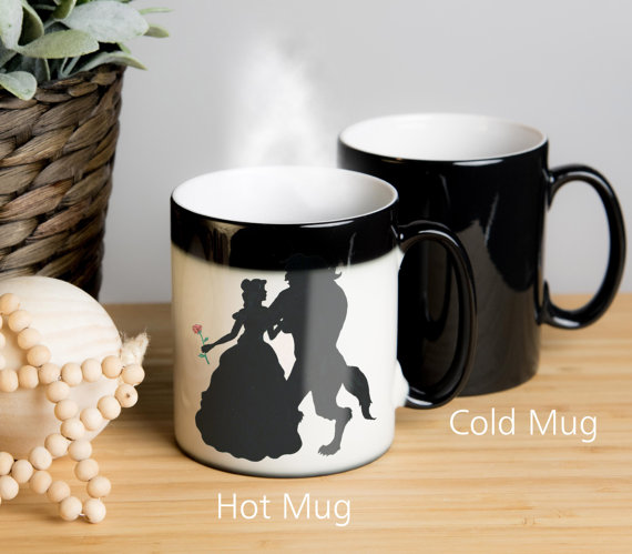 Beauty and the beast color change mug