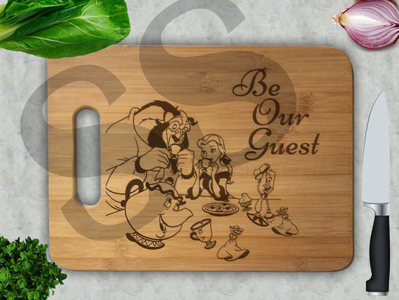 Beauty and the Beast cutting board