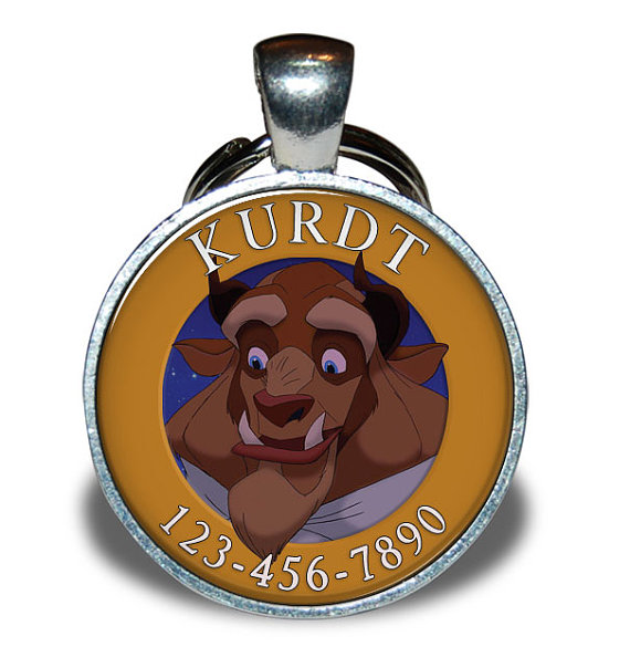 Beauty and the Beast Pet ID tag