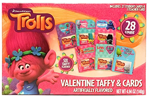 Trolls Valentine's Day Cards For School