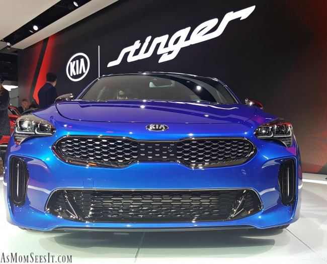 Blue 2018 Kia Stinger at NAIAS