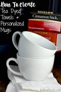 Easy DIY Customized Tea Mug & Tea Dyed Towels: #TeaProudly With Bigelow