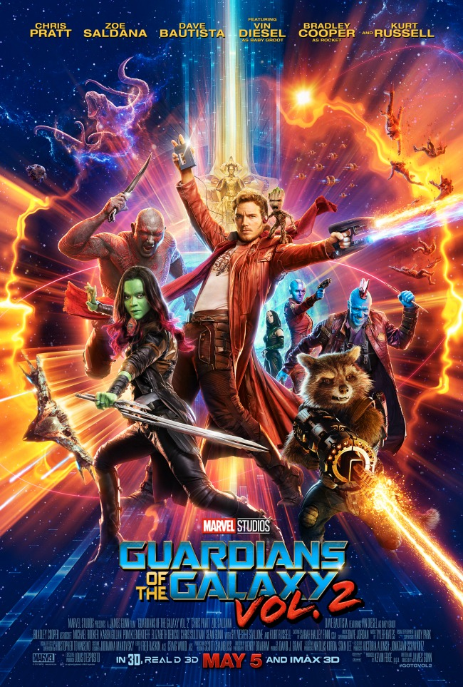 A brand new Guardians of the Galaxy Vol. 2 poster has been released