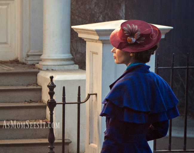 A first look at actress Emily Blunt playing the titular role in Disney's Mary Poppins Returns