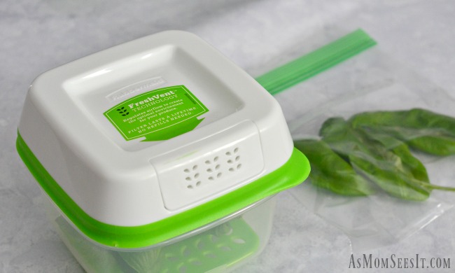 The new Rubbermaid FreshWorks containers keep produce fresher longer