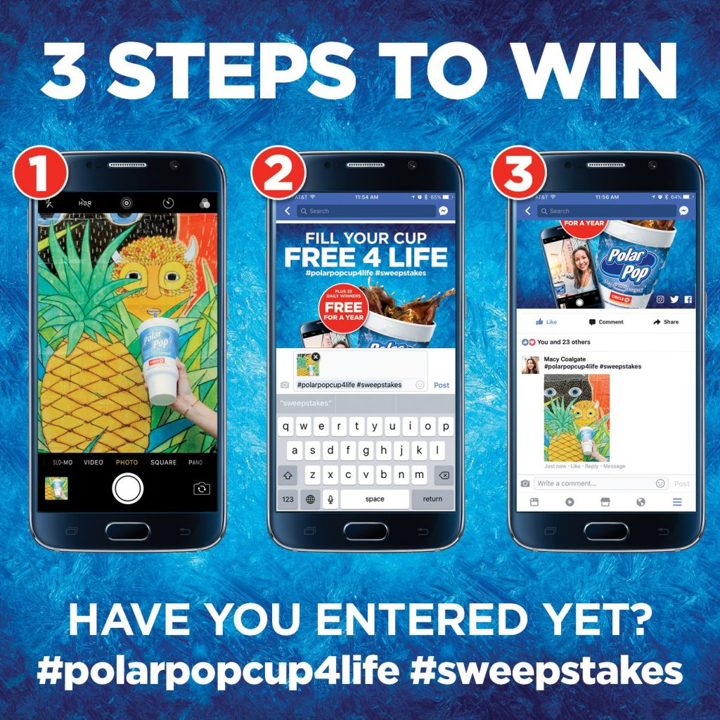 Enter to win free Polar Pop Cup refills for life