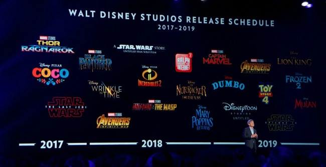 Walt Disney Studios Release Dates for their films over the next two years