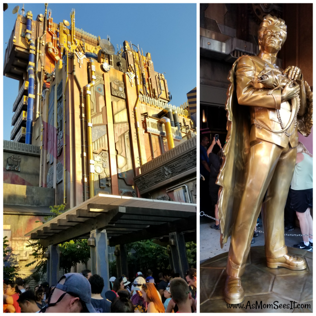 The newest attraction at Disneyland is the Guardians of the Galaxy Mission Breakout