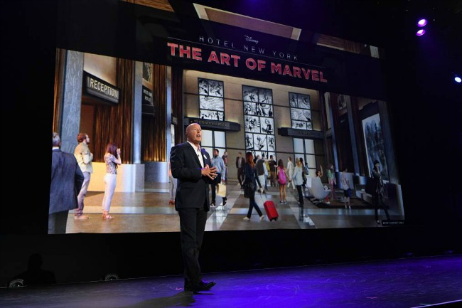 Disney's Hotel New York – The Art of Marvelat Disneyland Paris will transport guests to the action-packed world of Super Heroes