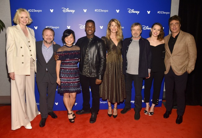 The cast of Star Wars: The Last Jedi at D23 Expo