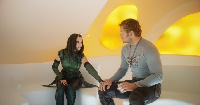 Mantis (Pom Klementieff) and Peter Quill/Star-Lord (Chris Pratt)