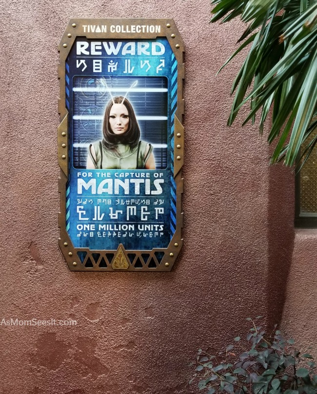 Mantis is wanted at Disneyland's Guardians of the Galaxy Mission: BREAKOUT ride