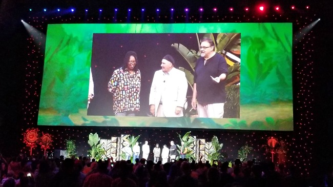 Whoopi Goldberg makes an appearance at D23 during The Lion King panel