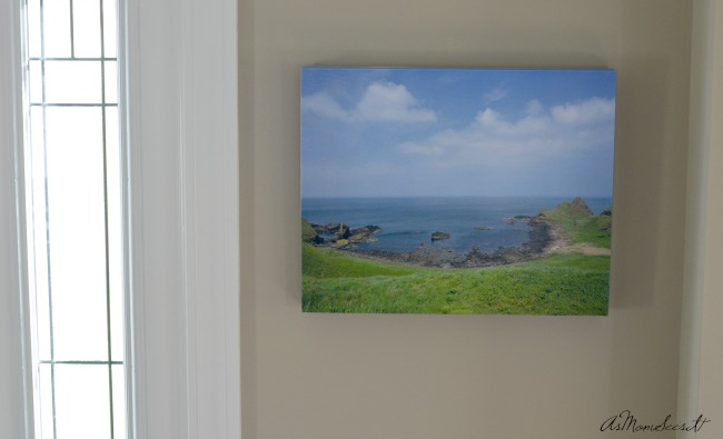 Final print of our photo from Ireland printed on Canvas Camp