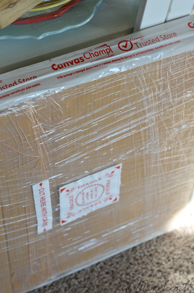 Canvas Champ package arrived but it was weeks before I could open it.