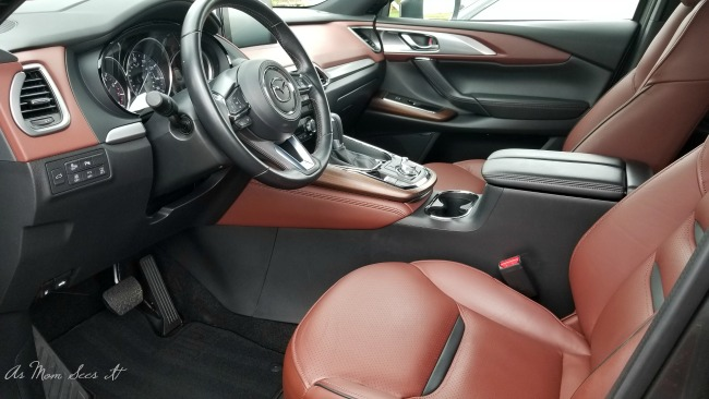 The three row seating makes the CX9 a desirable vehicle for families