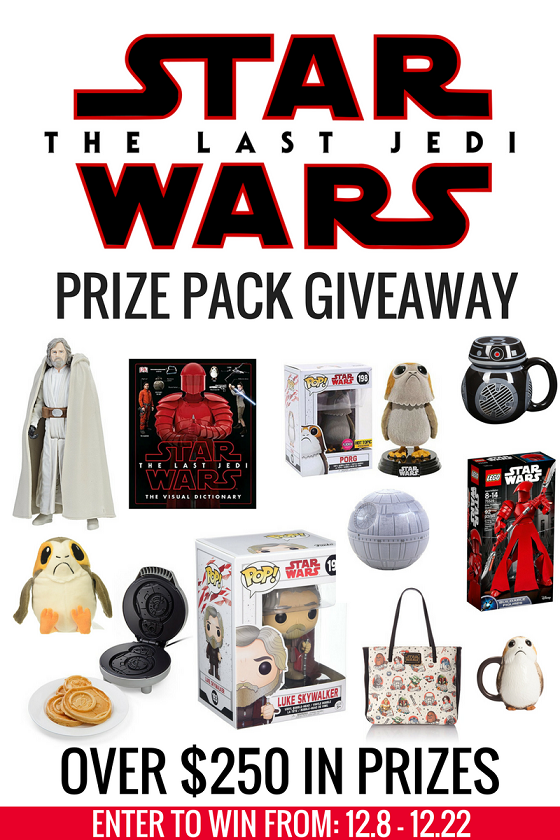 Enter To Win The Ultimate Star Wars: The Last Jedi Prize Pack!