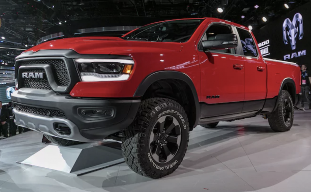 The 2019 Ram 1500 Rebel displayed at this year's Detroit Auto Show