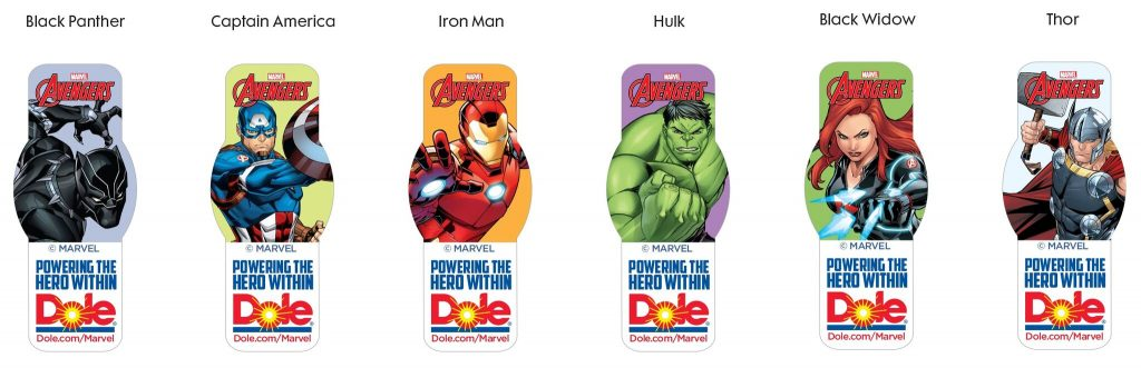 Avengers and Dole team up to help families eat healthier